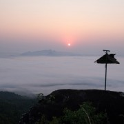 Sunrise view from cybele hill resort wayanad