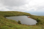 Heart shaped lake at Chembra